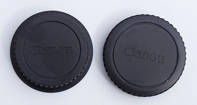 Body and Rear Lens Cap Cover for Canon EOS Camera EF-S Lens - UK STOCK