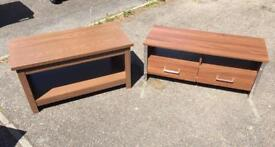 TV Unit, Coffee Table and Side Table. V.G.C