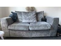 Crushed velvet couch £40