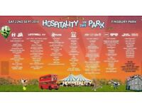 2 x Hospitality in the Park Tickets