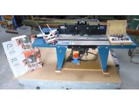 PERFORMANCE PLUNGE ROUTER 1020W NLE1020. With Powercraft Ruter Table