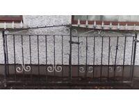 Driveway gates. Width across both gates 215cm