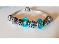 Pandora bracelet, hardly worn, RRP £600