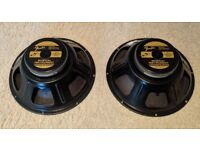 2 X Fender / Eminence Special Design 32w 12'' 8 ohm Speakers