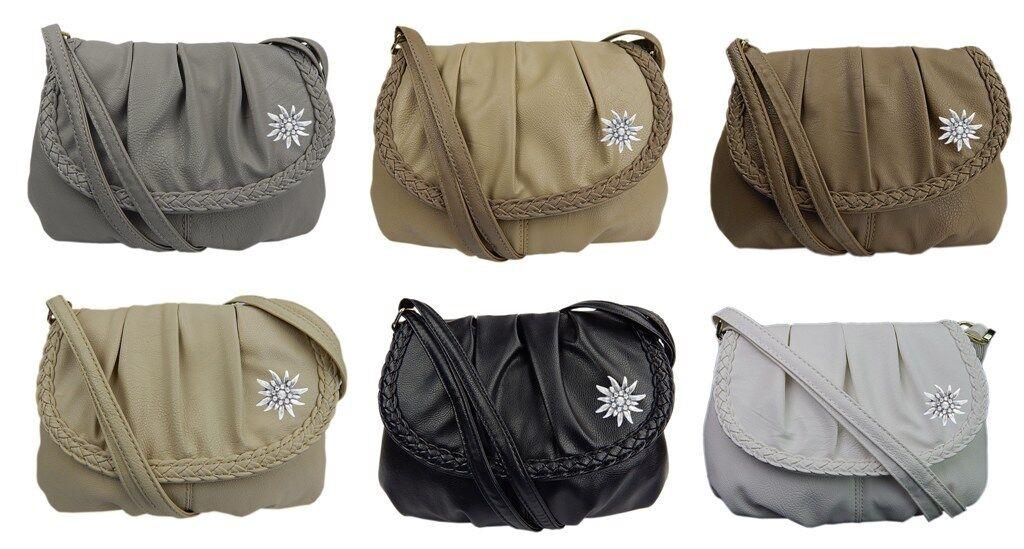 Trachtentasche Handtasche Schultertasche Tasche mit Edelweiss -3257