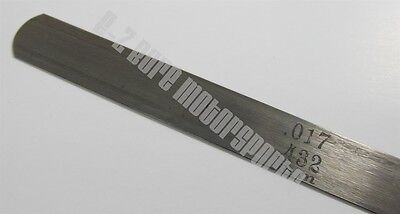 .017 .432mm Feeler Gage Gauge 12 Long Strip 12 Wide Usa Made Carbon Steel