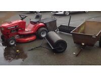 Murrey sit on tractor/lawnmower and accessories