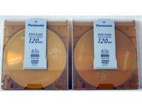Panasonic Rewritable DVD-RAM Discs.