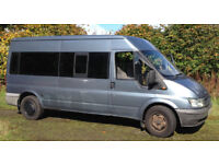 MOT FAILURE ALMOST FINISHEDCONVERSION FORD TRANSIT350 PETROL AND GAS MINBUS MUST SELL -BEST OFFER