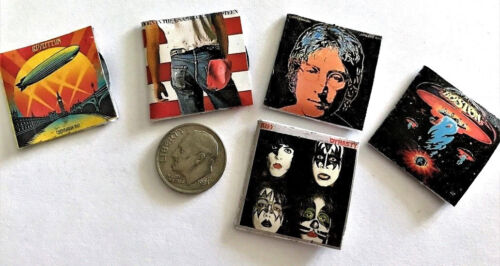 """Dollhouse Miniature Overstock Lot Sale - """"Record"""" Albums with """"Records"""" #3 1:12"""