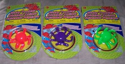 3 NEW STICKY TUMBLER OCTOPUS WALL WALKERS - A CLASSIC RETRO TOY FROM THE - Wall Walkers