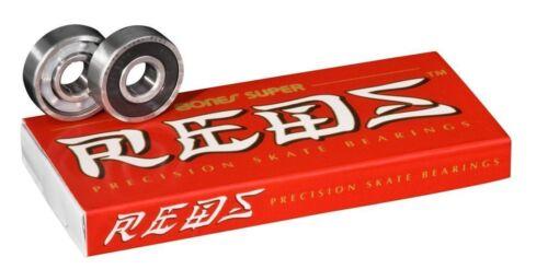 Bones SUPER Reds Skateboard Bearings - 2 to 3 day shipping