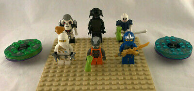 Lot of 6 LEGO Ninjago Minifigures w/ Accessories - Lord Garmadon, Zane, Jay