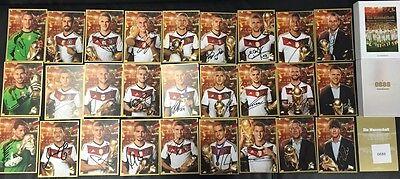 Limited, Limitierte Edition DFB Gold Autogrammkarten 27 Stück original signiert