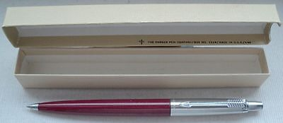 PARKER JOTTER in  WINERED, DOMED TYP, in ORIGINAL BOX DATED APRIL  1969 ! ! ;