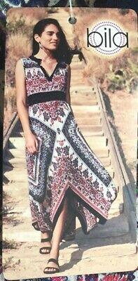 Bila Boho Handkerchief Hem Sleeveless Dress with Broomstick - Dress Handkerchief Hem