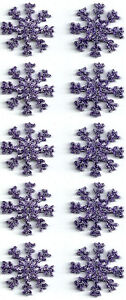 SET-OF-TEN-10-SNOWFLAKES-1-PURPLE-EMBROIDERED-IRON-ON-APPLIQUE-PATCHES