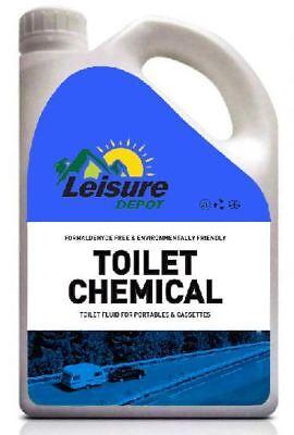 Leisure Depot 2 Litre Toilet Blue Chemical Cassette Caravan Motorhome Boat