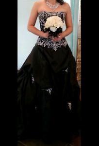 Black Maggie Sottoro wedding dress. Size 8/9