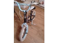 Kids 14 Inch Bike with stabilisers
