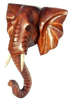 NEU schöner ELEFANTENKOPF Holz Afrika Handarbeit Elefant 28