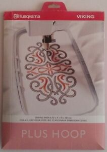 Husqvarna Viking  #1+ Orchidea, Rose, Iris, Scandinavia Embroidery Plus Hoop