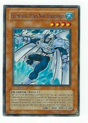 SDHS-EN012 Unlimited Edition Yu-Gi 3 x NM Elemental HERO Bubbleman Common