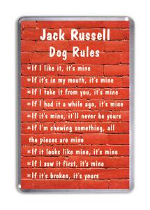 Jack Russell Hund Regeln, Lustiger Kühlschrank-magnet Haustier Tierliebhaber