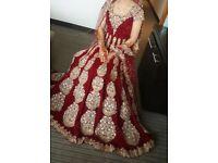 Stunning designer wedding dress/lengha