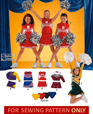 RETIRED SEWING PATTERN! MAKES CHEERLEADER COSTUME! SIZES 2 - 6! 3 SKIRT STYLES!