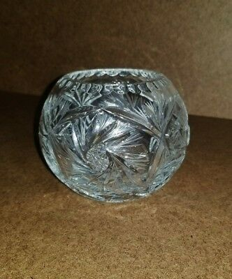 Vintage Spin Wheel Crystal Table Top Cigar Ashtray/Candy/Potpourri/ Vase Ball ](Candy Table Vases)