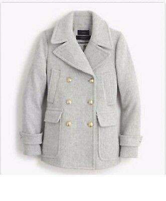 NEW J CREW STADIUM CLOTH MAJESTY PEA COAT - Heather Dust P2 for sale  Fort Collins