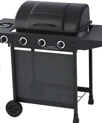 BBQ Gas 3 Side Burner Barbecue Charcoal Party Grill Cooking Garden Outdoor Patio