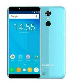 OUKITEL C8 5.5 18:9 screen Android 7.0 Unlocked Mobile QUAD CORE 2GB 16GB blue brand new £85