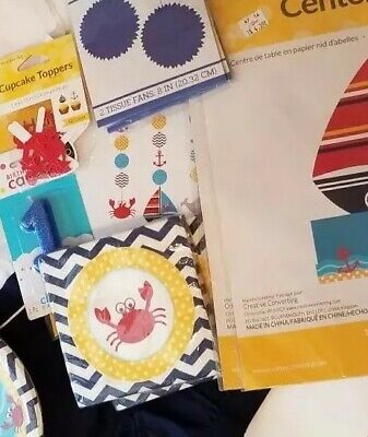 Nautic Party Theme 1st Birthday lot Baby Sailor Crab hats All You Need Brand