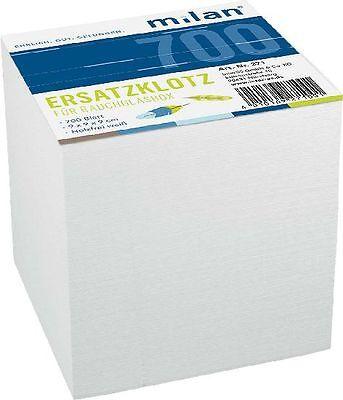 Zettelklotz Notizklotz Nachfüllung weiß, 700 Blatt Box Notizzettel 9 x 9 x 9 cm