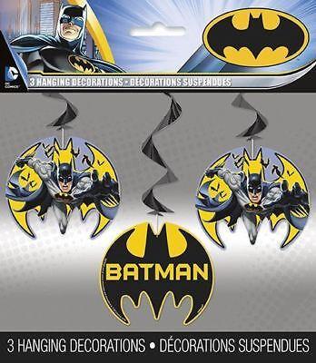 Batman Superhero Children's Birthday Party Hanging Swirls Banner Decoration