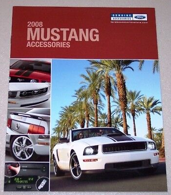 Ford 500 Accessories (NEW 2008 FORD MUSTANG CALIFORNIA SPECIAL GT500 ACCESSORIES LITERATURE BROCHURE! )