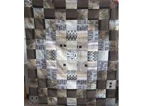 HOMEMADE PATCHWORK THROW - SOUNDWAVES £20 - Ideal Christmas Present for over a Sofa or Bed