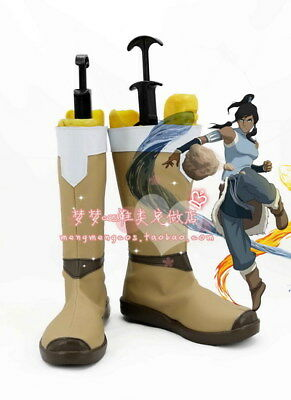Legend Of Korra Halloween Costumes (Avatar The Legend of Korra Cosplay Shoes Boots For Halloween custom)