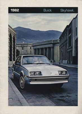 Buick Skyhawk Car - 1982 Buick Skyhawk 12-page Original Car Sales Brochure Catalog booklet
