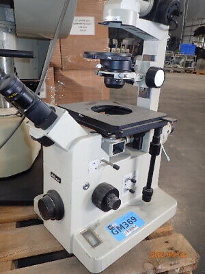 Nikon Diaphot Phase Contrast Inverted Microscope - Works But No Objectives