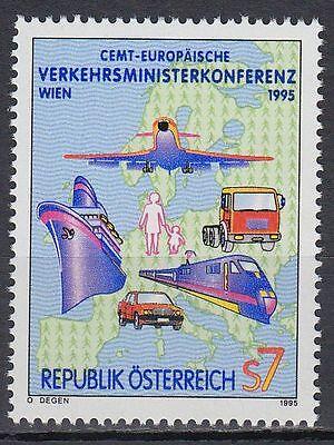 Österreich Austria 1995 ** Mi.2159 Verkehrsmittel Transport Flugzeug Car Train