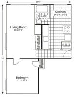 "*** Large 1 bdrm with ""EAT-IN"" Kitchen"