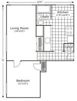 """*** Large 1 bdrm with """"EAT-IN"""" Kitchen"""