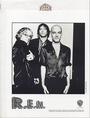 R.E.M. - Up 1998 PRESS KIT + PHOTO