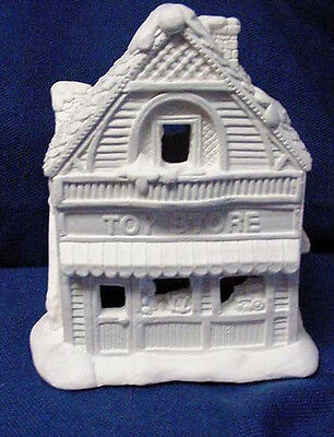 NWOT CREATIVE CRAFTS CALIFORNIA CREATIONS SE155 TOY STORE UNPAINTED XMAS