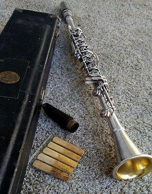 Vintage Conn 514N Professional Silver Clarinet