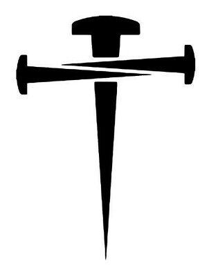 Cross Vinyl Decal Car Christian Nails Decal Tumbler Decal Faith Decal Sticker](Christian Stickers)
