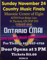 Come out and see the best Country singers in Ontario